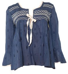 ODD MOLLY blue remix blouse
