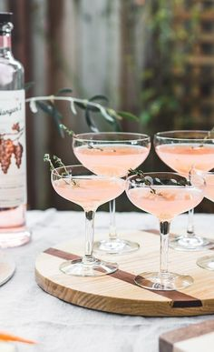 Elderflower Rose Cocktail