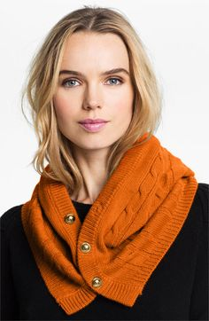 MICHAEL Michael Kors Button Front Snood... versatile style, can be a G and wear like a hood