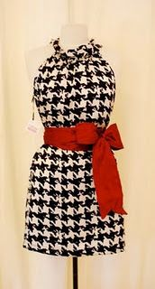 cute houndstooth dress ~ black tights and boots