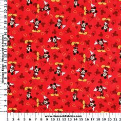 Mickey and Icons Toss Cotton Fabric