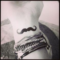 moustache tattoo