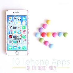 Smartphones und Apps sind aus unserem Leben nicht mehr wegzudenken! Heute auf dem Blog: 10 Iphone Apps, die ich täglich nutze! Welche Apps tippt Ihr jeden Tag an?