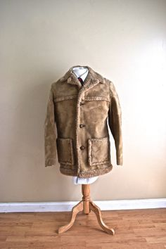 Sale Mens Vintage Suede Cowboy Jacket for Men - Small