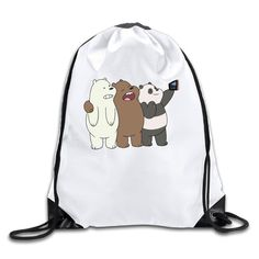 Funny We Bare Bears Polyester Fiber Drawstring Sackpack One Size -- Awesome products selected by Anna Churchill We Bare Bears, Gym Backpack, Drawstring Backpack, Canvas Backpack, Travel Backpack, Gym Bag, Pet Raccoon, Cinch Sack, We Bear