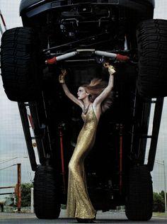 heavy metal. Steven Klein. Vogue Aug '06 - incredible photo but waaaay too skinny.