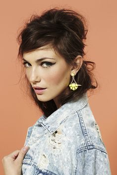 In The Rough Denim Jacket, Starburst Spike Earrings
