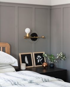The name Moles Breath speaks for itself – linking in with the fantastically popular Elephant's Breath but reflecting the beautiful colour of a mole's coat. A classic shade from Farrow and Ball. Black And Grey Bedroom, Grey Bedroom Paint, Bedroom Wall Colors, Grey Room, Bedroom Color Schemes, Grey Painted Bedrooms, Colour Schemes, Farrow Ball, Farrow And Ball Paint