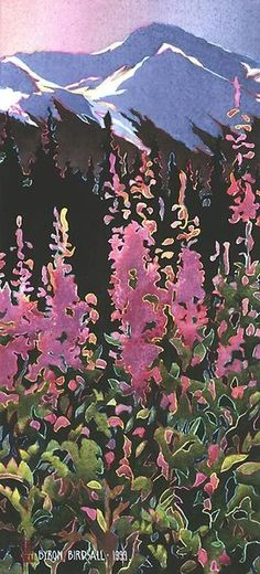 Byron Birdsall - he is a real character and a wonderful artist. He once showed up at a Symphony fundraiser wearing velvet knee britches! Watercolor Landscape, Watercolor Paintings, Watercolors, Nature Photos, Online Art Gallery, Painting Inspiration, Illustrators, Dawn, Art Drawings