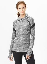 GapFit jersey mesh-panel hoodie