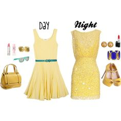 """yellow day to night"" by shellyb306 on Polyvore"