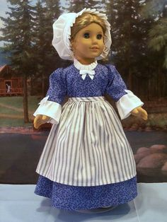 Berry Picking Work Dress fits American Girl Elizabeth Felicity 18 in. dolls #ClothingShoes