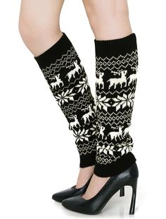 Women Snowflake Deers Pattern Knit Toeless Long Socks Pair. Style: Leg Warmers; Suitable for: Lady. Pattern: Deers, Snowflake; Brand: SourcingMap. Size Type: Regular; Material: 85% Polyester, 15% Cotton. Package Content: 1 Pair x Leg Warmers; Overall Size: 42 x 11.5cm / 16 1/2 x 4 1/2 inches (L*W). Cuff Girth: 20cm / 7 7/8 inches; Net Weight: 87g.