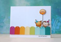 Laura Bassen | happy birthday | Mama Elephant-MINI MESSAGES + MINI TAGS