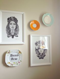 gorgeous prints by Emmaline Bailey & hand painted plate by trixie delicious
