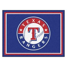 MLB Texas Rangers Navy Blue 8 ft. x 10 ft. Indoor Area Rug