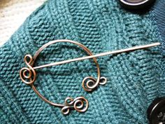 Celtic Scarf Pin - Antiqued Copper - Celtic Jewelry. $17.00, via Etsy.