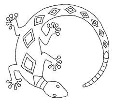 Aboriginal Art Lizard Coloring Pages