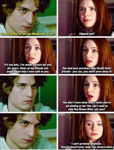 Lily and Snape. I wish this scene was in the movies