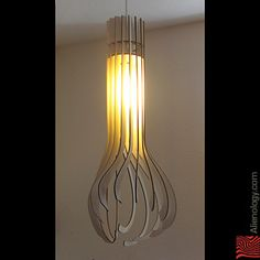 Really Cool Lamps gorgeous laser cut hanging lamp! | laser cutting | pinterest