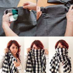 Interesting product-TINY PILOT SCOUGH - Black and White Small Checkered Flannel Scarf