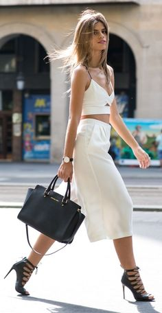 White Crop & Wide Culottes by Ms Treinta.