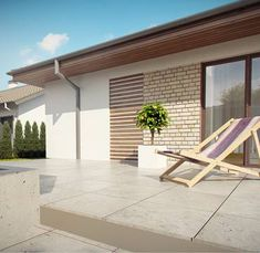 Z301 to wyjątkowy dom z kategorii projekty domów do 160 m2 Small House Design, New House Plans, Home Design Plans, Outdoor Furniture, Outdoor Decor, Sun Lounger, New Homes, Construction, How To Plan