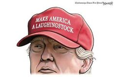 A roundup of funny and provocative cartoons about Donald Trump and his presidential campaign.: Donald Trump Laughingstock