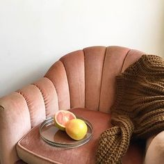 Still thinking about these pink velvet babies  (the chairs already sold) Glass and silver vintage tray $42. Brown chunky sweater is from @thefrankieshop 〰〰〰#throwbackthursday #tbt #inspo #homeunion #thefrankieshop #pink #pinkvelvet #pinkchairs #style #trends #pantone #color #palepink #pastel #grapefruit #glasstray #mood #goals #love #silver #stilllife