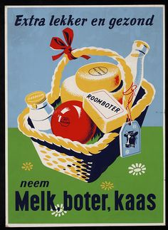 extra lekker en gezond neem melk, boter, kaas