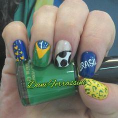 27 unhas decoradas para torcer pelo Brasil na Copa