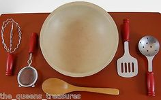 KITCHEN-TOOL-ACCESSORY-SET-for-18-American-Girl-Doll-Kitchen-Bowl-5-Utensils