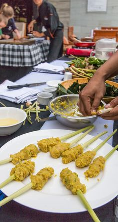 Cooking masterclass making delicious Balinese dishes.  #cooking