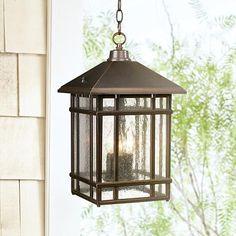 J du J Sierra Craftsman Outdoor Hanging Light - #26031 | LampsPlus.com