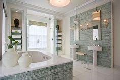 #Bathroom done in #mosaic #tiles