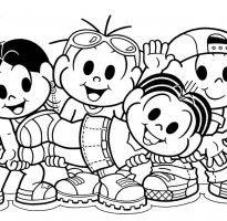 Desenhos Da Turma Da Monica Para Colorir E Imprimir Em 2020 Com