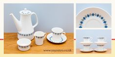 yay retro! recently found a gorgeous set of Figgjo Flint china comprising a large coffee jug, cups, saucers, milk jug and sugar bowl. It has...