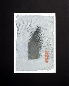 Grey and White Modern Abstract Painting With by wheatleypaperworks, $95.00