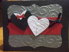 Heart wedding card by Denisescraftydesigns on Etsy, $5.00