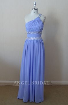 2013 New Arrival Sexy one shoulder Sky Blue  Prom dress,party dress,evening dress