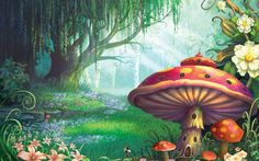 Enchanted Forest Wallpaper Mural by Philip Straub