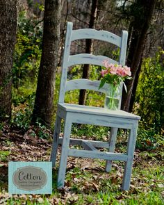 SOLD ~ Straight chair painted with Annie Sloan Chalk Paint in Duck Egg Blue, distressed and finished with Clear Wax Painted Furniture For Sale, Old Chairs, Duck Egg Blue, Annie Sloan Chalk Paint, Custom Paint, Wax, Room Ideas, Dining Room, Seasons