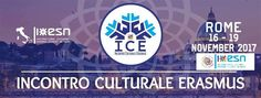 [ROMA - ICE Incontro Culturale Erasmus]   Siete pronti per l'Incontro Culturale più esplosivo dell'anno?   ===========3000 ERASMUS da tutta Italia============ ===============51 sezioni di ESN================= ================una sola città================== ___________________________ROMA______________________________  VIDEO HERE ---> https://www.youtube.com/watch?v=dFUIfSDOuT4  Volete forse perdervi la possibilità di vedere la capitale in un modo unico e spettacolare e di conoscere…