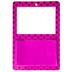 Magnetic Whiteboard with Pocket - Pink Dot