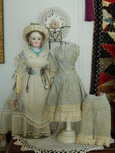 "French fashion 12"" doll antique trousseau from kimsdollgems on Ruby Lane"