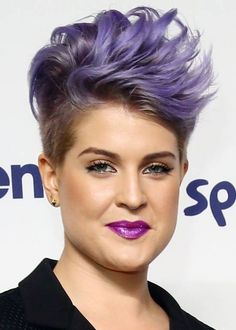 Short Funky Hairstyles - Purple Side Flicked Spikes