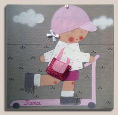 CUADROS PERSONALIZADOS: cuadro infantil para jana