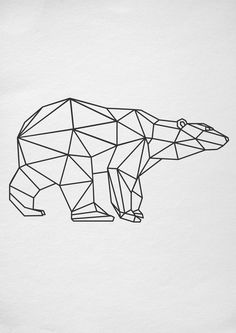 Bear, #SVG, DXF, PNG, AI ,CDR, PDF, print and #cut files for tattoo design, #t-shirt design, sticker, wall decor, #scroll saw, car decal, embroidery pattern. Digital files for use with #Silhouette, #Cricut and other Vinyl Cutters and printing machine.