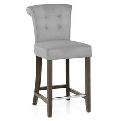 Sumptuously stylish, the Carlton Scroll Back Stool is a velvet delight! Ideal for glamorous kitchens and bar areas. Bar Areas, Foot Rest, Dark Wood, Wooden Frames, Bar Stools, Dining Chairs, Chrome, Velvet, The Incredibles