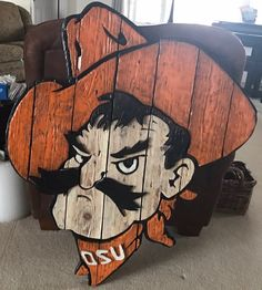 Oklahoma state cowboys wood wall art, vintage wall art, osu cowboys, wall hanging, pistol pete, cowboys football by CBwoodcraftdesigns on Etsy https://www.etsy.com/listing/513520661/oklahoma-state-cowboys-wood-wall-art